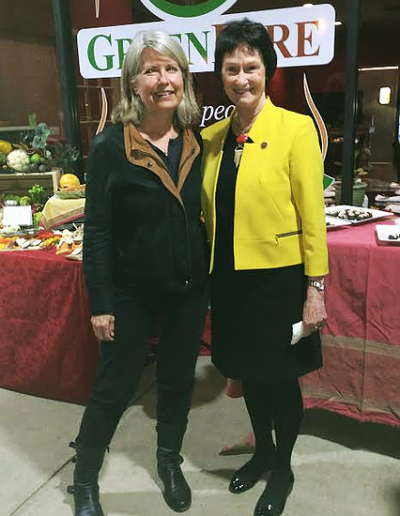 GreenFare Grand Opening - Gwyn and Sharon
