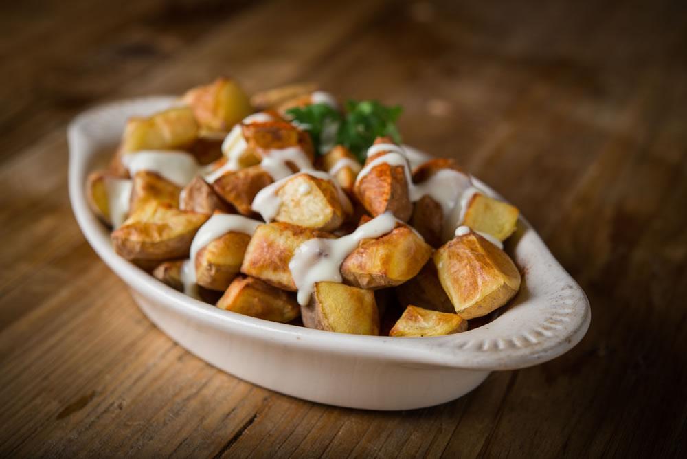 Organic Baked Patatas Bravas