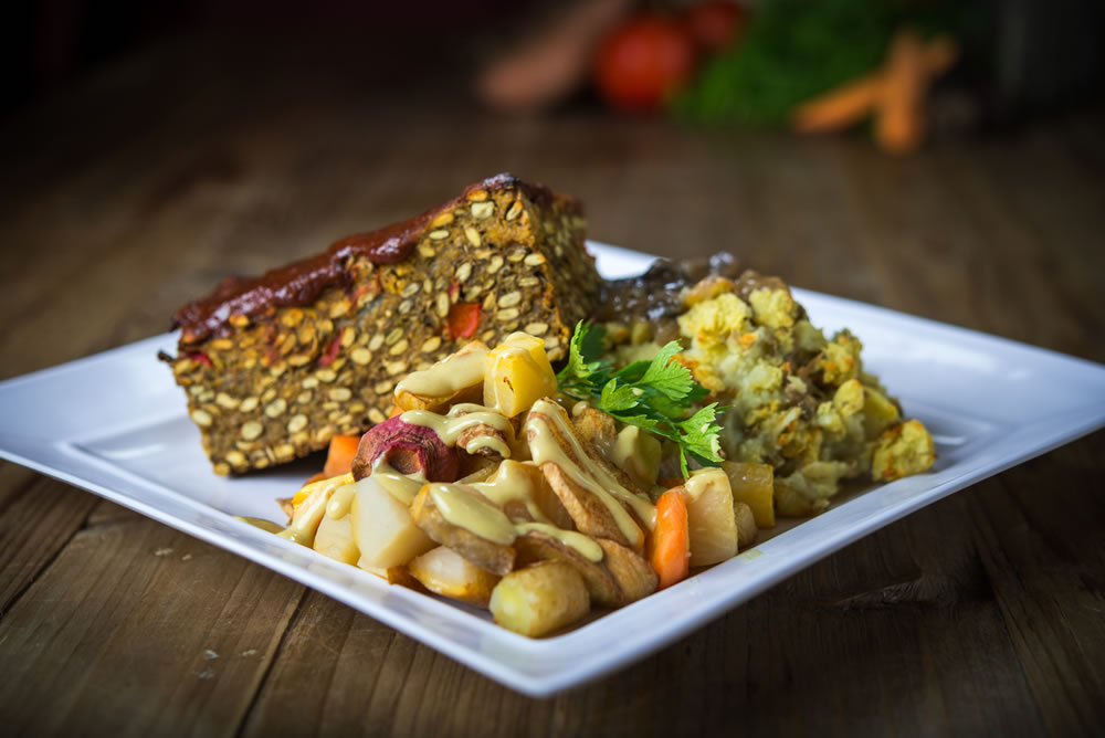Organic Polenta Loaf & Autumn Vegetables