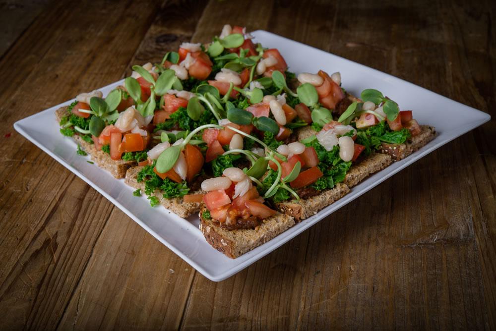 Organic Kale Bruschetta