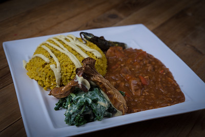 Organic Millet and Barbecue Jackfruit with Steamed Kale